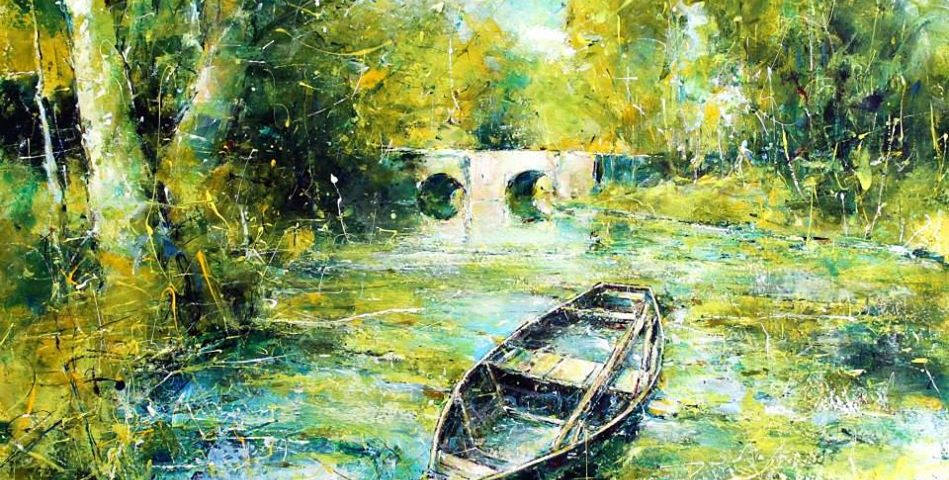 'Summer on the Dordogne'2015acryliconcanvas30x40cm